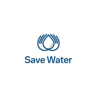水のロゴを保存