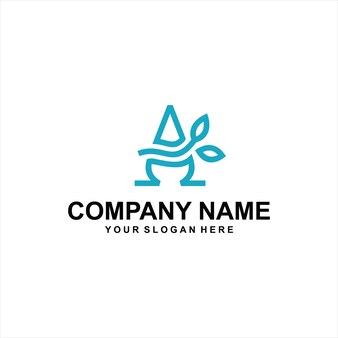 手紙の葉のロゴのベクトル
