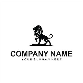 Черный лев логотип вектор