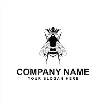 Шаблон логотипа пчелы
