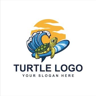 Серфинг черепаха логотип