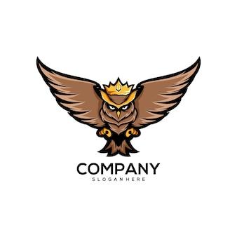 フクロウ王のロゴデザイン