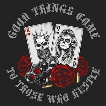 Концепция гангстеров с игральными картами