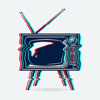 レトロなテレビオブジェクト