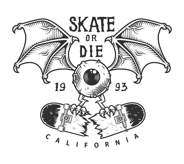 Винтажный скейтбординг логотип
