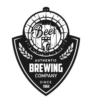Винтажный пивоваренный черный логотип