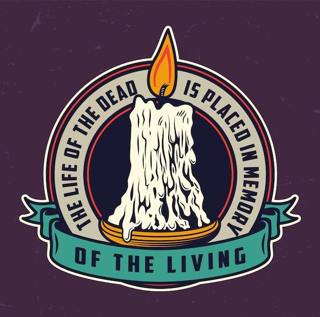 День мертвых винтажный красочный логотип