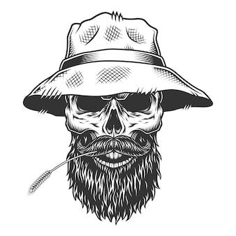 パナマ帽子の頭蓋骨