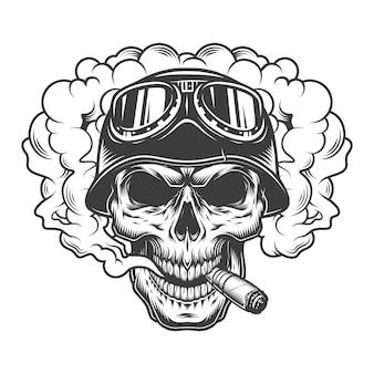 Череп в облаке дыма