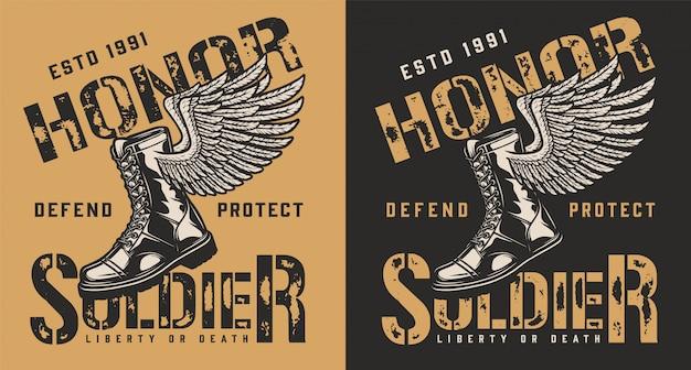 Военная эмблема бренда
