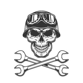 Винтажный байкерский череп
