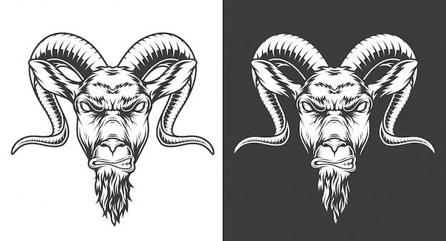 Монохромный козел иллюстрация