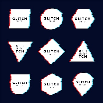 グリッチ幾何学形状セット