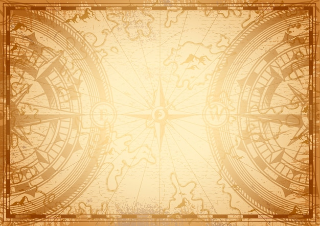 Старый шаблон морской карты