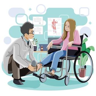 医者と入院中の患者