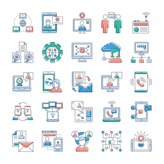 この頃は、迅速で迅速なコミュニケーションが大好きです。これらの広告やコミュニケーション、ネットワークのベクトルコレクションがアイコンスタックにとって非常に価値のあるものになることを願っています。