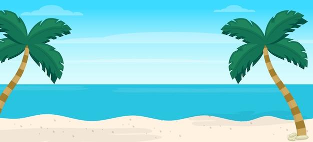Иллюстрация с видом на море