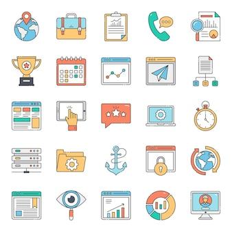 Пакет плоских иконок для веб-макета