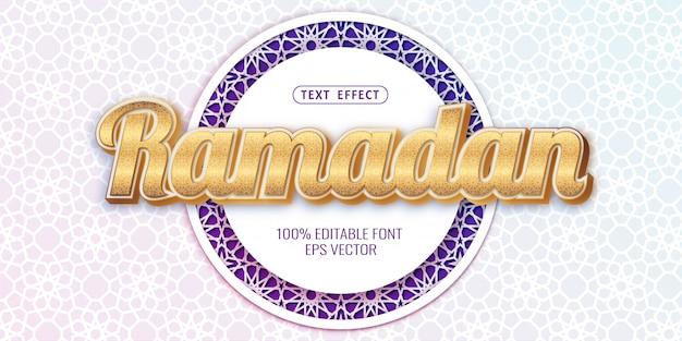 Золотой текстовый эффект рамадан