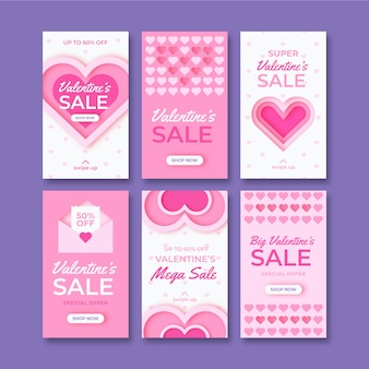 イスタグラムバレンタインの販売ストーリーテンプレート
