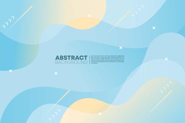 Абстрактный фон с градиентом синего кремового цвета