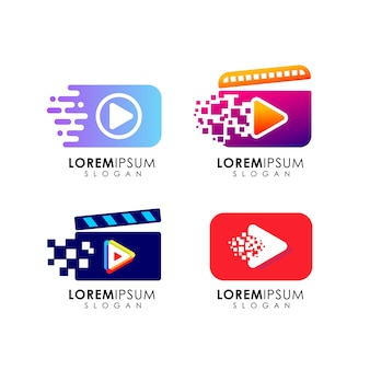 Играйте в шаблон логотипа. дизайн иконок