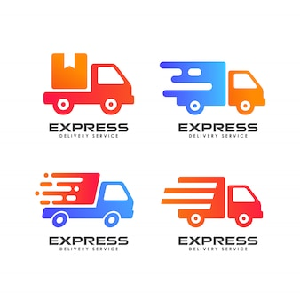 宅配便のロゴのデザインテンプレート。出荷ロゴデザインアイコンベクトル