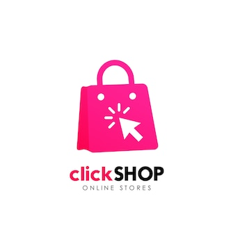 店のロゴアイコンデザイン。オンラインショップのロゴデザインテンプレート