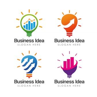 創造的なビジネスアイデアのロゴのテンプレート