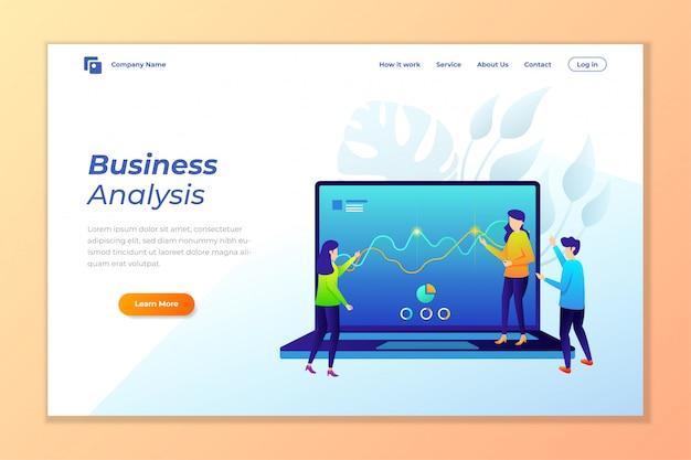 Веб-баннер фон вектор для анализа данных