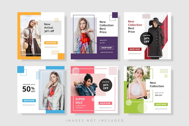 Шаблон рекламного баннера для веб-сайта и социальной сети