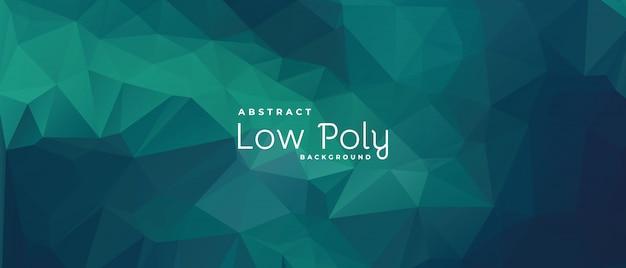 Зеленый абстрактный фон, многоугольники, низкополигональная концепция.