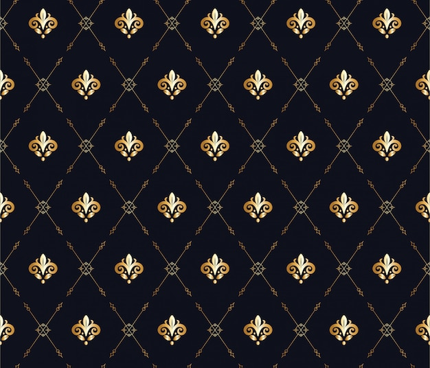 ダイヤモンドの形でミニマリストの花の彫刻のシームレスパターン