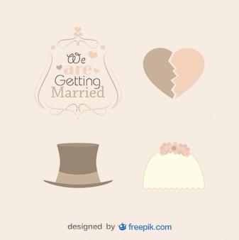 ビンテージ結婚式の帽子を詰める
