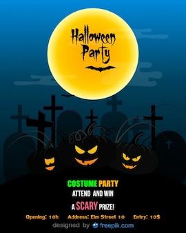ハロウィーンパーティーのチラシ仮装パーティーテンプレート