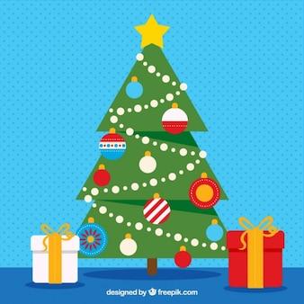 クリスマスツリーをやってテープ