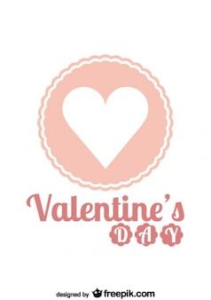 バレンタインピンクのレトロバッジ