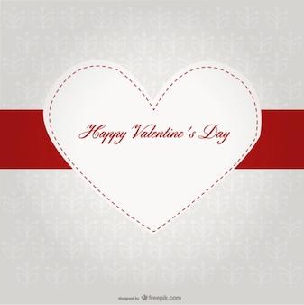 バレンタインデーのための装飾的心バナーカードのデザイン