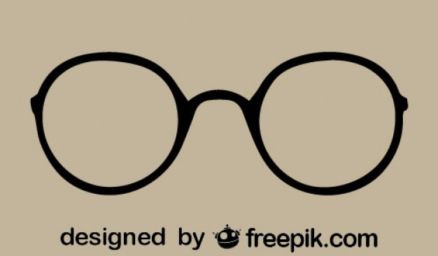 Старинные круглые кадр очки