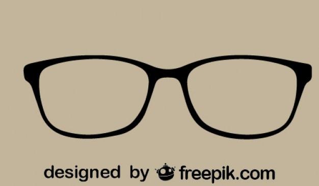 眼鏡のアイコンレトロスタイル