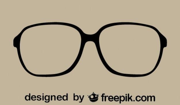 レトロでスタイリッシュなベクトルメガネ