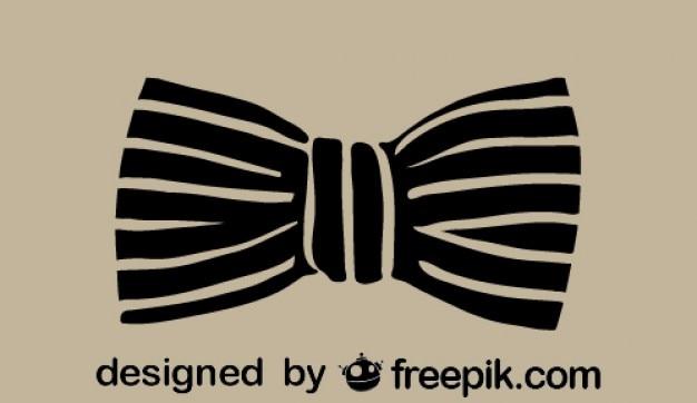 Классический значок ретро моды галстук-бабочка