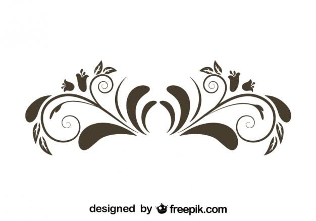 花グラフィックエレメントレトロスタイルのデザイン