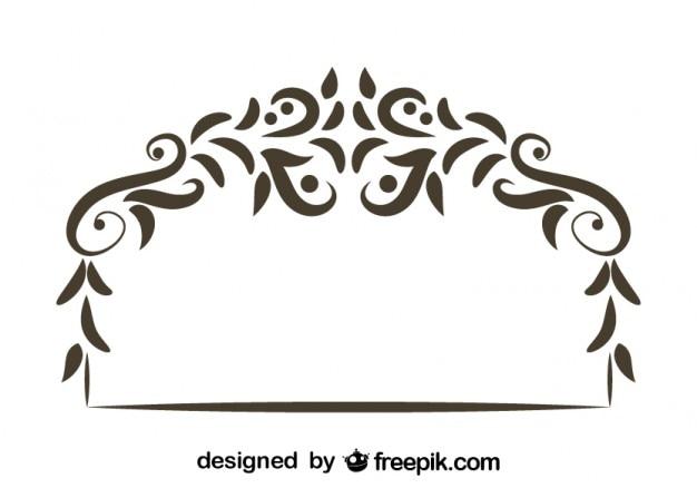 花の装飾的なレトロなヘッダーデザイン
