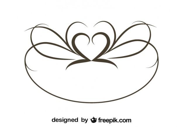 レトロな楕円形のスワールスタイリッシュなデザイン