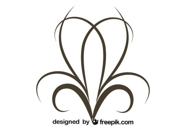 ヴィンテージミニマルでスタイリッシュな渦巻きの装飾