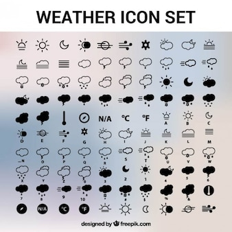 Погода иконки вектор пакет