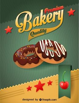 Пончики векторные шоколад