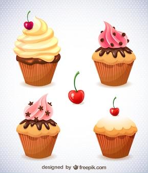 カップケーキの無料アート