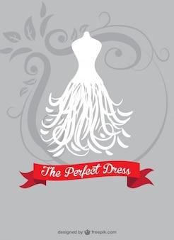 花嫁のドレスのベクトル